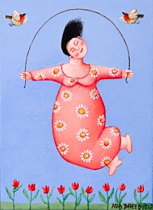 Afbeelding van onze reproductie van Lente by Ada Breedveld op canvas, klein