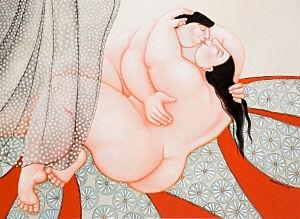 Afbeelding van onze reproductie van Liefde by Ada Breedveld op canvas, klein