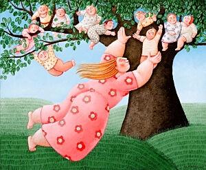 Afbeelding van onze reproductie van Mamaboom by Ada Breedveld op canvas, klein