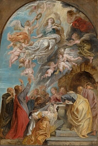 Image of our reproduction of Modello Assumption of the Virgin by Peter Paul Rubens on canvas, small