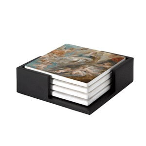 Image of our reproduction of Modello Assumption of the Virgin by Peter Paul Rubens on ceramic coaster sets, small