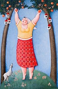 Afbeelding van onze reproductie van Oogst by Ada Breedveld op canvas, klein