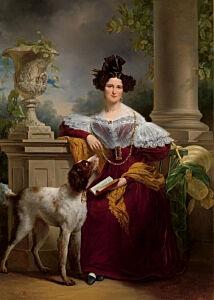 Afbeelding van onze reproductie van Portret van Alida Christina Assink by Jan Adam Kruseman op canvas, klein