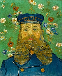 Image of our reproduction of Portrait of Joseph Roulin by Vincent van Gogh on canvas, small