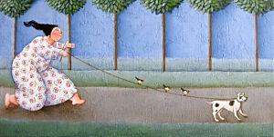 Afbeelding van onze reproductie van Reisgezelschap by Ada Breedveld op canvas, klein