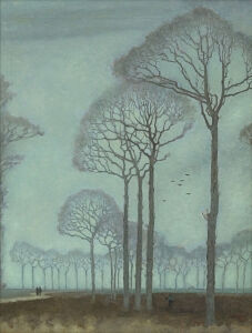 Image of our reproduction of Row of Trees by Jan Mankes on canvas, small