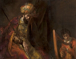 Image of our reproduction of Saul and David by Rembrandt van Rijn on canvas, small