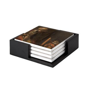 Image of our reproduction of Saul and David by Rembrandt van Rijn on ceramic coaster sets, small