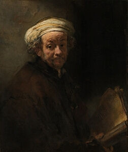 Image of our reproduction of Self-portrait as the Apostle Paul by Rembrandt van Rijn on canvas, small
