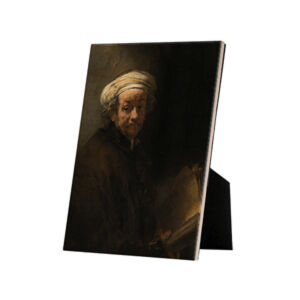 Image of our reproduction of Self-portrait as the Apostle Paul by Rembrandt van Rijn on ceramic tiles with easelback, small