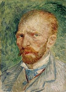 Afbeelding van onze reproductie van Zelfportret by Vincent van Gogh op canvas, klein