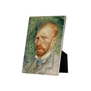 Image of our reproduction of Self-Portrait by Vincent van Gogh on ceramic tiles with easelback, small