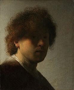 Afbeelding van onze reproductie van Zelfportret Rembrandt van Rijn by Rembrandt van Rijn op canvas, klein