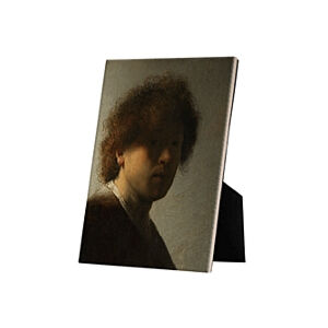 Image of our reproduction of Self-portrait Rembrandt van Rijn by Rembrandt van Rijn on ceramic tiles with easelback, small