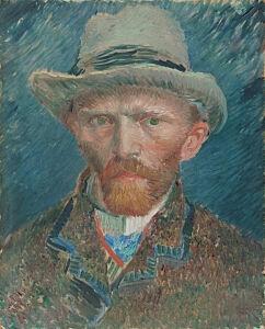 Afbeelding van onze reproductie van Zelfportret Vincent van Gogh by Vincent van Gogh op canvas, klein