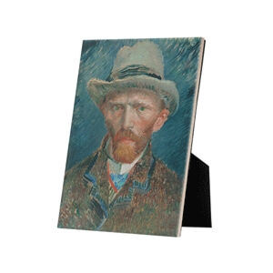 Image of our reproduction of Self-portrait Vincent van Gogh by Vincent van Gogh on ceramic tiles with easelback, small