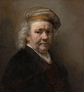 Image of our reproduction of Selfportrait Rembrandt van Rijn by Rembrandt van Rijn on canvas, small