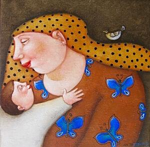 Afbeelding van onze reproductie van Snoes by Ada Breedveld op canvas, klein