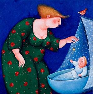 Afbeelding van onze reproductie van Sterre by Ada Breedveld op canvas, klein