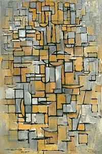 Afbeelding van onze reproductie van Tableau No. 1 by Piet Mondriaan op canvas, klein