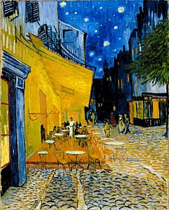 Image of our reproduction of Terrace of a Café at Night (Place du Forum) by Vincent van Gogh on canvas, small