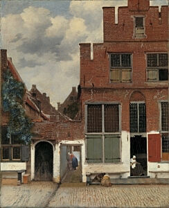 Image of our reproduction of The Little Street by Johannes Vermeer on canvas, small