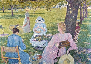 Image of our reproduction of The Orchard by Théo van Rysselberghe on canvas, small