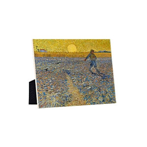 Image of our reproduction of The Sower by Vincent van Gogh on ceramic tiles with easelback, small