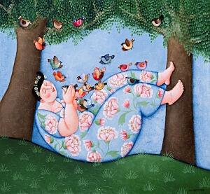 Afbeelding van onze reproductie van Toevlucht by Ada Breedveld op canvas, klein