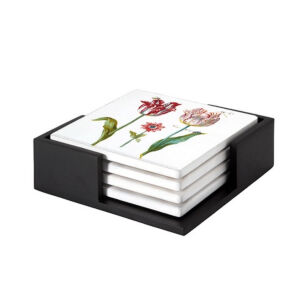 Image of our reproduction of Tulips by  on ceramic coaster sets, small