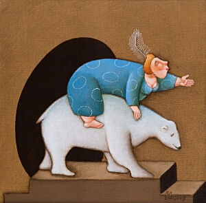 Afbeelding van onze reproductie van Une Dompteuse by Ada Breedveld op canvas, klein