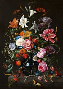 Image of our reproduction of Vase of Flowers by Jan Davidsz. de Heem on canvas, small