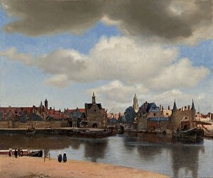 Image of our reproduction of View of Delft by Johannes Vermeer on canvas, small