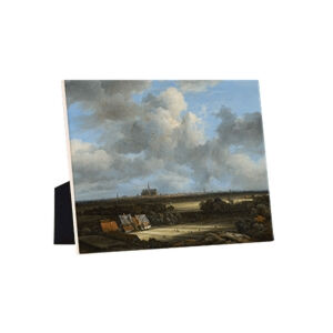 Image of our reproduction of View of Haarlem with Bleaching Grounds by Jacob van Ruisdael on ceramic tiles with easelback, small