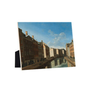 Image of our reproduction of View of the Golden Bend in the Herengracht by Gerrit Adriaensz. Berckheyde on ceramic tiles with easelback, small