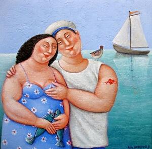 Afbeelding van onze reproductie van Voor altijd de jouwe by Ada Breedveld op canvas, klein