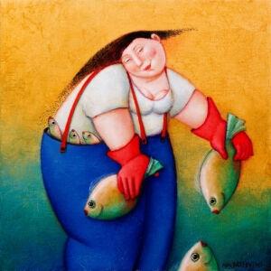 Afbeelding van onze reproductie van Zeemin by Ada Breedveld op canvas, klein